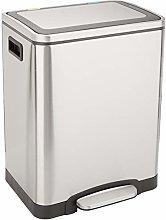 Amazon Basics Trash can, Satin, 2 x 15L