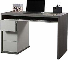 Amazon Brand - Movian 3-Drawer Desk, 110 x 75 x 60