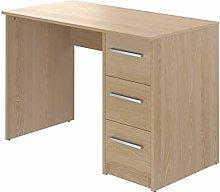 Amazon Brand - Movian Idro 3-Drawer Desk, 56 x 110