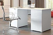 Amazon Brand - Movian Lek 2-Door 2-Drawer Desk,