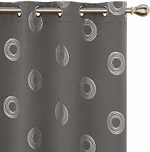 Amazon Brand - Umi Grey Curtains Foil Printed