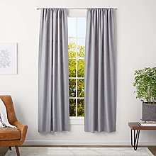 AmazonBasics 1.6 cm Curtain Rod with Cap Finials,