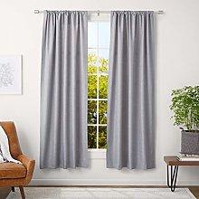AmazonBasics 2.5 cm Curtain Rod with Cap Finials -