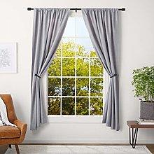 AmazonBasics 2.5 cm Curtain Rod with Cap Finials,