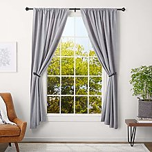 AmazonBasics 2.5 cm Curtain Rod with Urn Finials,