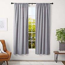 AmazonBasics 3 cm Curtain Rod with Round Finials,