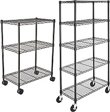 AmazonBasics 3-Shelf Shelving Unit on Wheels –