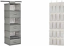 AmazonBasics Hanging Closet Shelf with 3 Removable