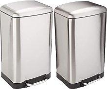 AmazonBasics Rectangle Soft-Close Trash Can with