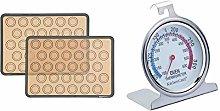 AmazonBasics Silicone Macaron Baking Mat - 2-Piece