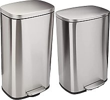 AmazonBasics Stainless Steel Dustbin with Manual