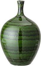 Amazy green stoneware vase