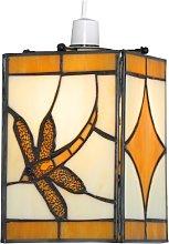 Amber Dragonfly Pendant Shade