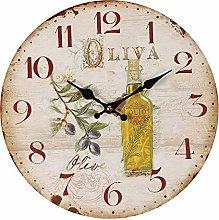 Ambiente Haus Olives Wall Clock 28 cm Decorative