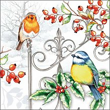 Ambiente Paper Napkins Christmas Birds & Holly for