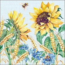Ambiente Paper Napkins Summer Sunflower and Wheat