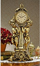 Amboise Twin Cherubs Mantle Clock Design Toscano