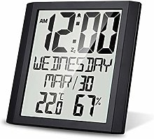 Amdohai Digital Wall Clock with Temperature