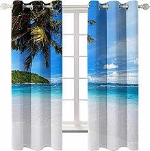 AmDxD 2 Panels Polyester Curtain Bathroom,