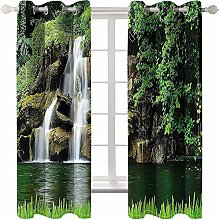 AmDxD 2 Panels Polyester Curtain Bathroom, Window