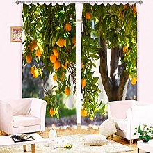 AmDxD 2 Panels Polyester Curtain, Living Room