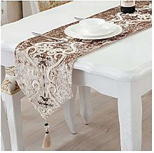AMDXD Beige Yellow Table Runner Cotton Linen,