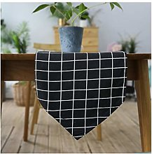 AMDXD Black White Cotton Linen Table Runner,