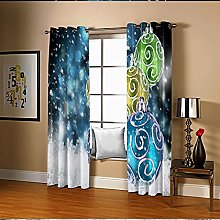 Amdxd Blackout Curtains for Bedroom Blue White
