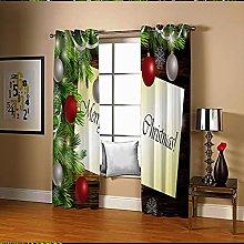Amdxd Curtains Blackout Multicolour Christmas Tree