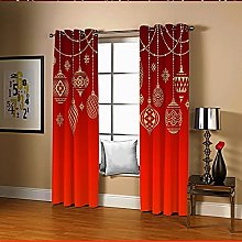 Amdxd Curtains for Living Room Red Decorations