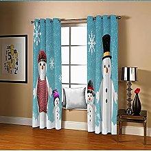 Amdxd Darkening Curtains for Bedroom Blue Snowman