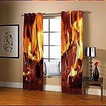 Amdxd Darkening Curtains for Living Room Orange