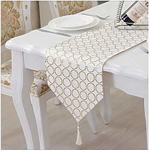 AMDXD Gold Table Runners Cotton Linen, Round