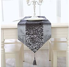AMDXD Gray Table Runners Flannel, Gilding Rose