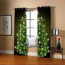 Amdxd Living Room Blackout Curtains Green Brown