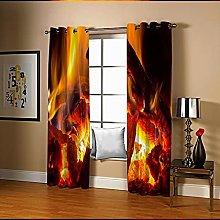 Amdxd Living Room Curtains Orange Fire,