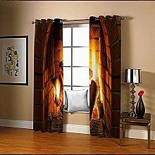 Amdxd Living Room Curtains Red Brown Orange