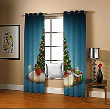 Amdxd Sheer Curtains for Living Room Blue