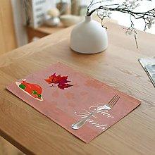 AmDxD Table Mat Cotton Linen, Placemat 4 Pack