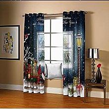 Amdxd Window Blackout Curtains Multicolour Merry