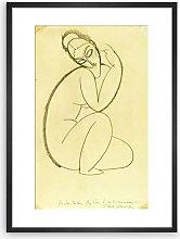 Amedeo Modigliani - 'Cariatide, 1911'