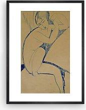 Amedeo Modigliani - 'Cariatide' Framed