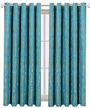 AMEHA Bourn Jacquard Curtains Pair Of Fully Lined