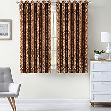 AMEHA Luxury Jacquard Curtains Pair Fully Lined