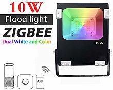 AMEIDD ZIGBEE ZLL LED Floodlight,10W,RGB+CCT WWCW,