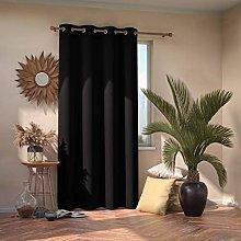 AmeliaHome Blackout Curtain 140 x 245 cm Black