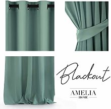 AmeliaHome Blackout Curtain 140 x 245 cm Opaque