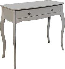 Amelie 1 Drawer Dressing Table Desk - Grey
