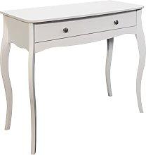 Amelie 1 Drawer Dressing Table Desk - White