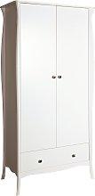 Amelie 2 Door 1 Drawer Wardrobe - White